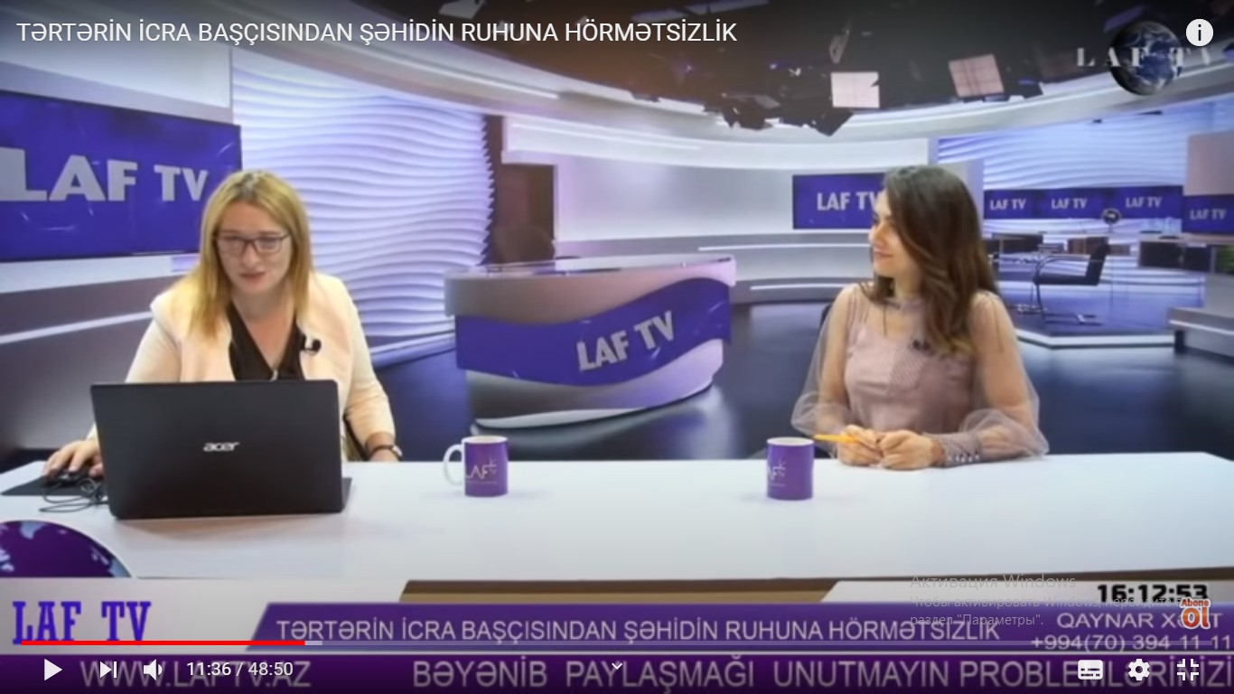 ŞƏHİDİN DƏ MÜXALİFƏTİ OLURMUŞ... - Tamilla Qulami
